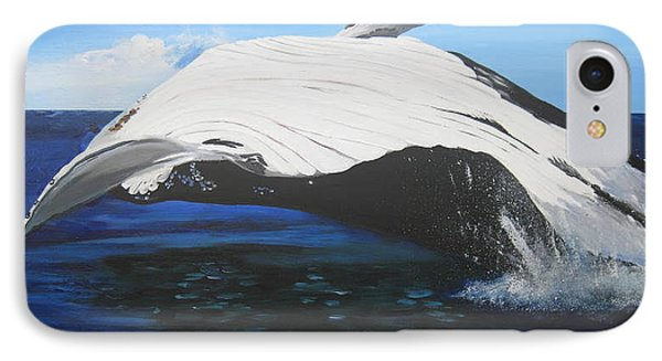 Breaching Whale IPhone Case by Cathy Jacobs