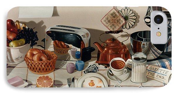 Breakfast With The Beatles - Skewed Perspective Series IPhone Case by Larry Preston