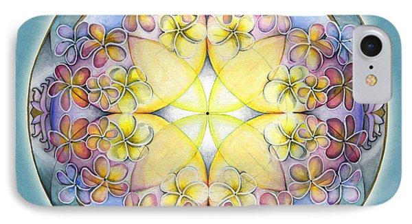 Breath Of Life Mandala IPhone Case by Jo Thomas Blaine