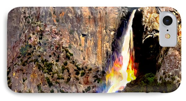 Bridalvail Falls Yosemite National Park IPhone Case by Bob and Nadine Johnston
