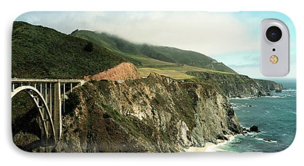 Bridge Across Hills At The Coast, Bixby IPhone Case by Panoramic Images