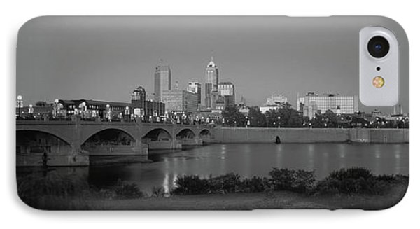 Bridge Over A River With Skyscrapers IPhone Case by Panoramic Images