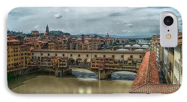 Bridges Of Florence Phone Case by C H Apperson