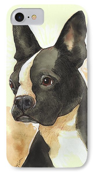Bright Boston Terrier IPhone Case by Tracie Thompson