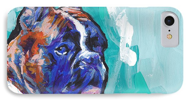 Brindle Boxer Baby IPhone Case by Lea S