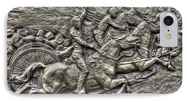 Bringing Up The Battery Detail-b 6th New York Independent Battery Horse Artillery Gettysburg Autumn Phone Case by Michael Mazaika