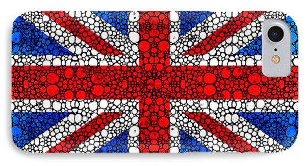 British Flag - Britain England Stone Rock'd Art Phone Case by Sharon Cummings