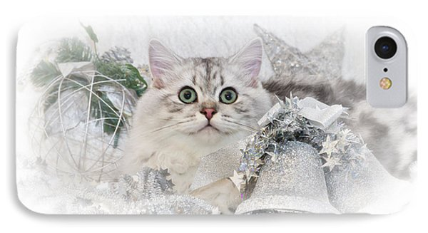 British Longhair Cat Christmas Time II IPhone Case by Melanie Viola