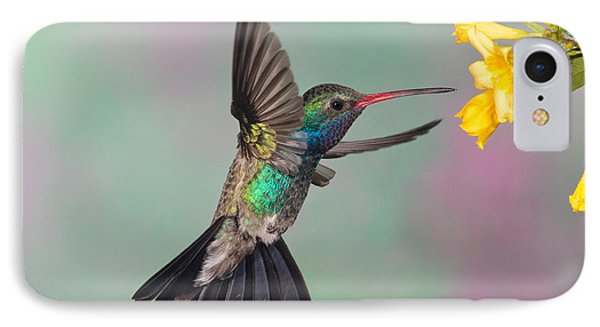 Broad-billed Hummingbird Phone Case by Jim Zipp