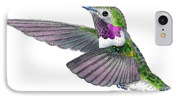 Broad-tailed Hummingbird Phone Case by Roger Hall