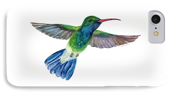 Broadbilled Fan Tail Hummingbird IPhone Case by Amy Kirkpatrick