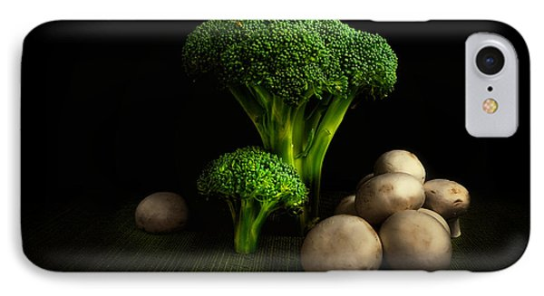 Broccoli Crowns And Mushrooms IPhone Case by Tom Mc Nemar
