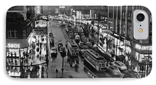 Bronx Fordham Road At Night IPhone Case by Underwood Archives