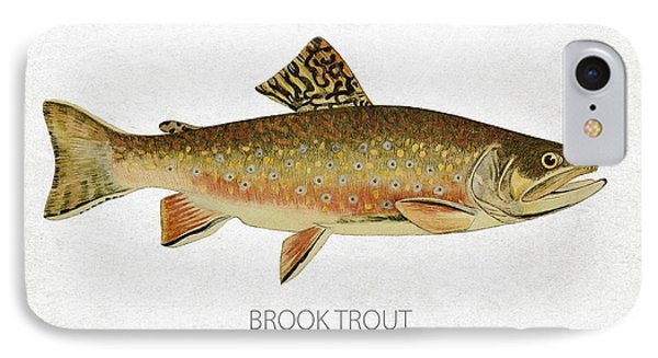 Brook Trout IPhone Case by Aged Pixel