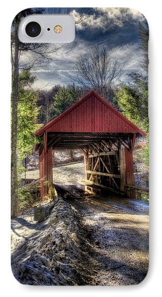 Sterling Covered Bridge - Stowe Vermont IPhone Case by Joann Vitali