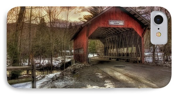 Brookdale Covered Bridge - Stowe Vt IPhone Case by Joann Vitali
