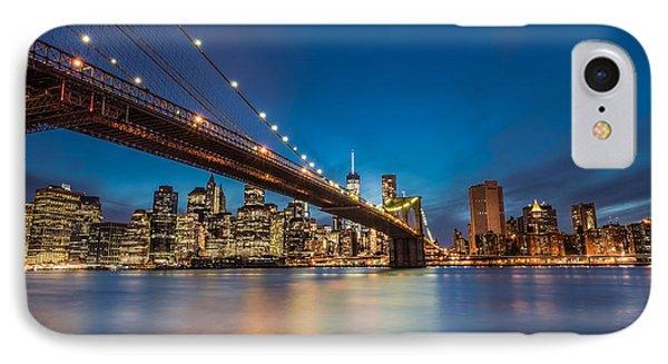 Brooklyn Bridge - Manhattan Skyline IPhone Case by Larry Marshall
