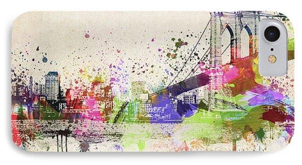Brooklyn Bridge IPhone Case by Aged Pixel