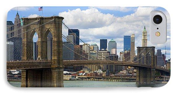 Brooklyn Bridge IPhone 7 Case by Diane Diederich