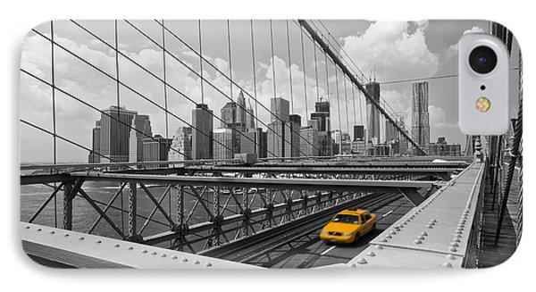 Brooklyn Bridge View Nyc Phone Case by Melanie Viola