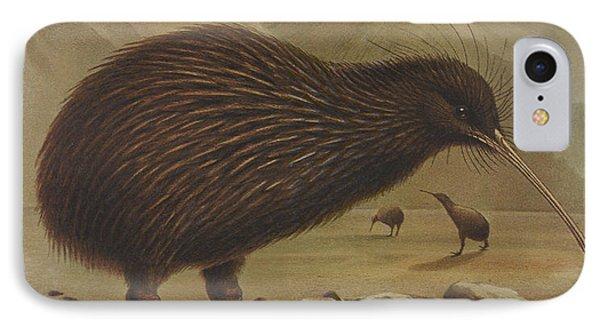 Brown Kiwi IPhone Case by J G Keulemans