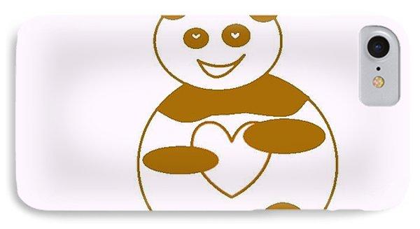 Brown Panda Phone Case by Ausra Huntington nee Paulauskaite