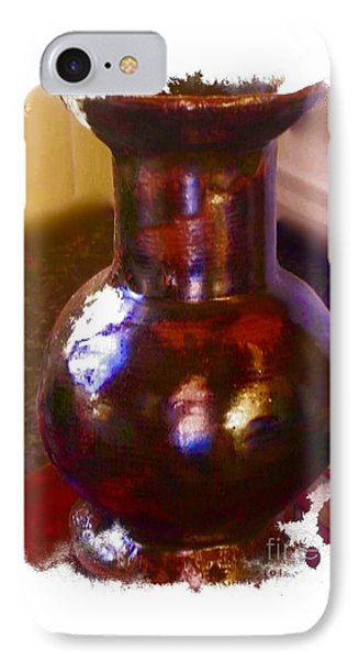 Brown Vase Design Phone Case by Joan-Violet Stretch