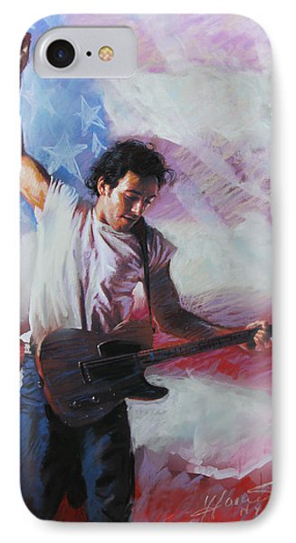Bruce Springsteen The Boss IPhone 7 Case by Viola El