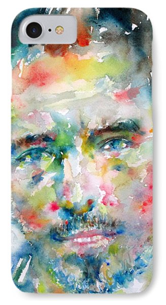Bruce Springsteen Watercolor Portrait.1 Phone Case by Fabrizio Cassetta