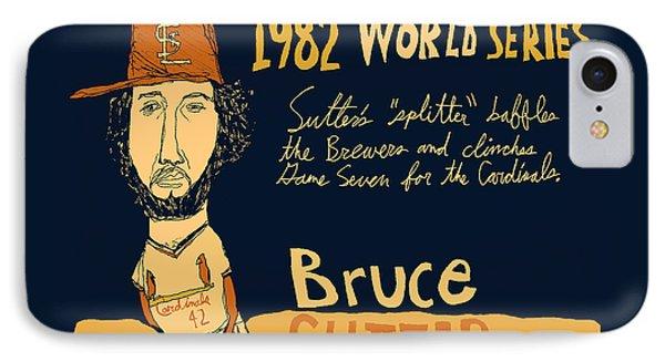 Bruce Sutter St Louis Cardinals Phone Case by Jay Perkins