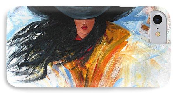 Brushstroke Cowgirl Phone Case by Lance Headlee