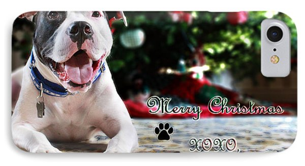 Bubba's First Christmas Phone Case by Shelley Neff