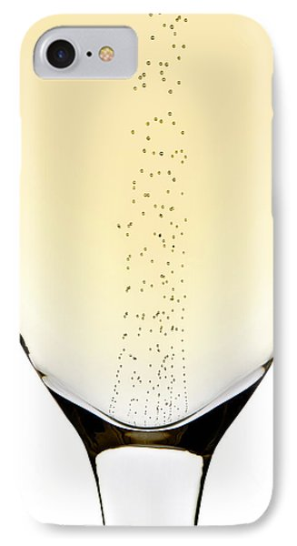 Bubbles In Champagne IPhone Case by Johan Swanepoel