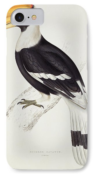 Great Hornbill IPhone 7 Case by John Gould