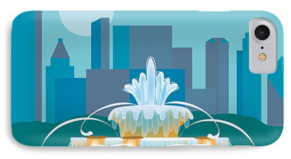 Buckingham Fountain Chicago Phone Case by Karen Young