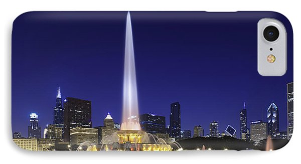 Buckingham Fountain IPhone Case by Sebastian Musial