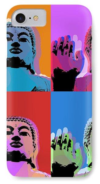 Buddha Pop Art - 4 Panels Phone Case by Jean luc Comperat