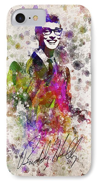 Buddy Holly In Color IPhone 7 Case by Aged Pixel