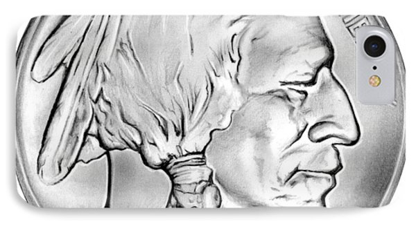 Buffalo Nickel IPhone Case by Greg Joens