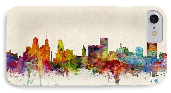 Buffalo Skyline IPhone Case by Michael Tompsett