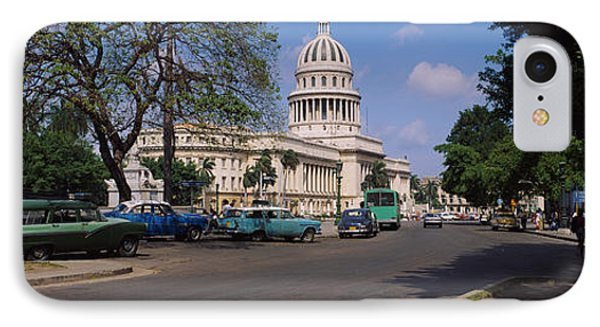 Building Along A Road, Capitolio IPhone Case by Panoramic Images