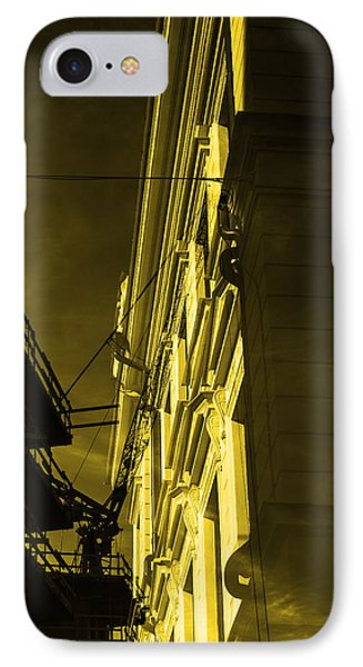 Building And Crane  IPhone Case by Toppart Sweden