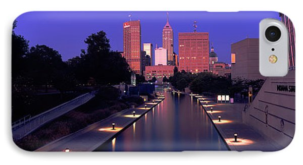 Buildings Along A Canal, Indiana IPhone Case by Panoramic Images