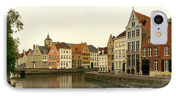 Buildings At The Waterfront, Bruges IPhone Case by Panoramic Images
