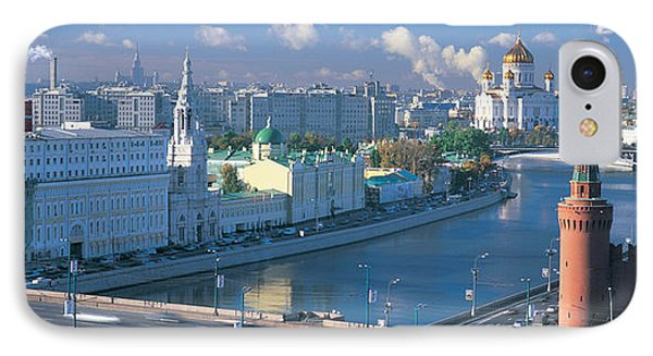 Buildings At The Waterfront, Moskva IPhone Case by Panoramic Images