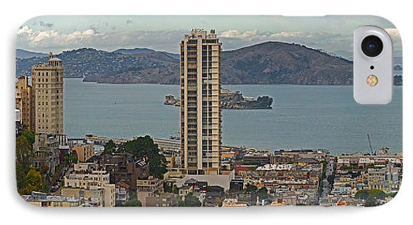 Buildings In A City With Alcatraz IPhone Case by Panoramic Images