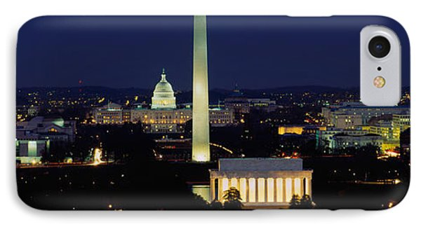 Buildings Lit Up At Night, Washington IPhone 7 Case by Panoramic Images