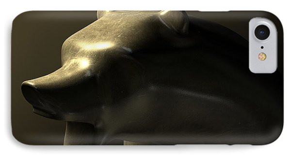 Bull Market Bronze Casting Contrast IPhone Case by Allan Swart