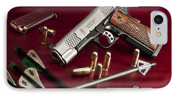 Bullets And Broadheads IPhone Case by Tom Mc Nemar