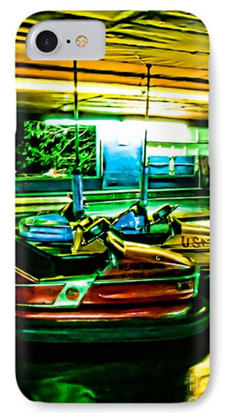 Bumper Cars Phone Case by Colleen Kammerer